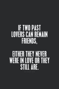 Spruch über Ex Freunde