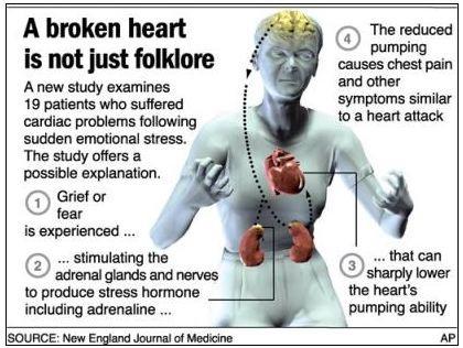 Infografik über gebrochenes Herz